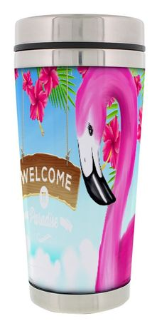 Thermobecher Flamingo Welcome to Paradis