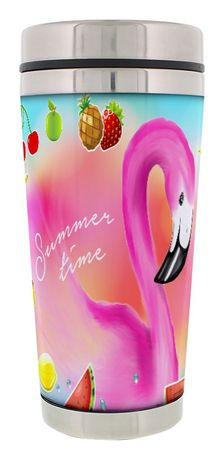 Thermobecher Flamingo Summertime