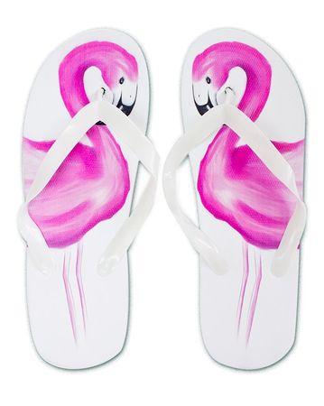 Strandschuhe Flamingo weiß, Gr. 36-39