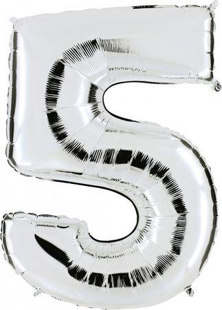 Folienzahl 5 silber