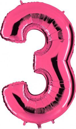 Folienzahl 3 pink
