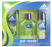 Adidas Gescheck Set  Get Ready EDT 100ml+Deospray 150ml+Shower Gel 250ml