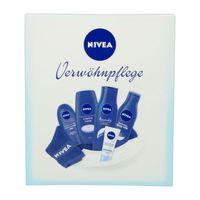 NIVEA Verwöhnpflege Geschenkset für SIE 6-tlg (Haarmilch, Body Milk, Pflegedusche, Handcreme, Tagespflege & NIVEA Handtuch) – Bild 1