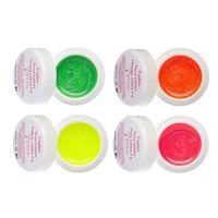 UV/LED Topline Neon Glitter Farbgel Set 4 x 5 g – Bild 1