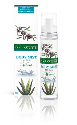 OLIVALOE 00113 - BODY MIST for Men - Waves - Körperspray 130ml