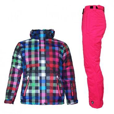 Killtec Tolina Mädchen Skianzug Schneeanzug mit neon pinker Hose – Bild 1