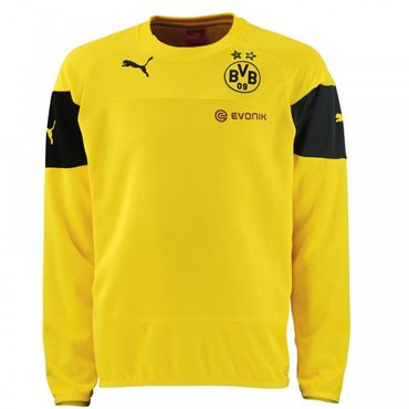 Puma BVB Borussia Dortmund Trainings Sweat Pullover Pulli 2014 / 2015 – Bild 2