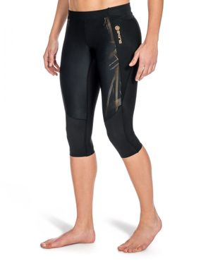 Skins A400 Black/Gold Kompression 3/4 Tight Damen – Bild 2