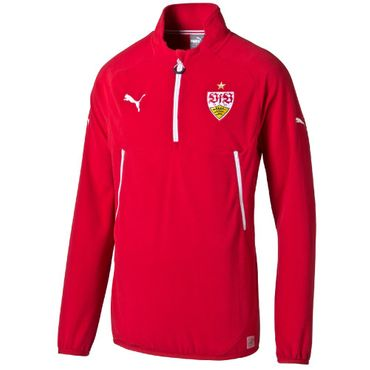 Puma VFB Stuttgart Training Fleece Sweatshirt mit half zip