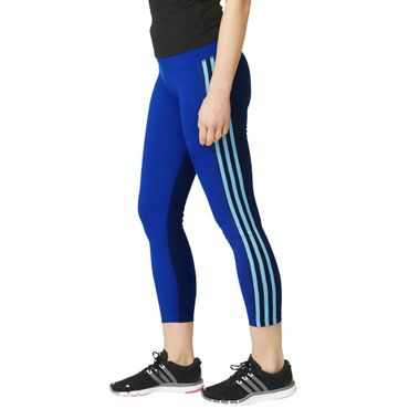 adidas ESS 3S CB Performance Fitness Tight Blau Damen – Bild 1