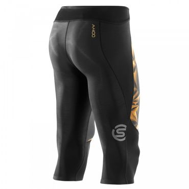 Skins A400 3/4 Compressions Tight Herren Black/Gold – Bild 2