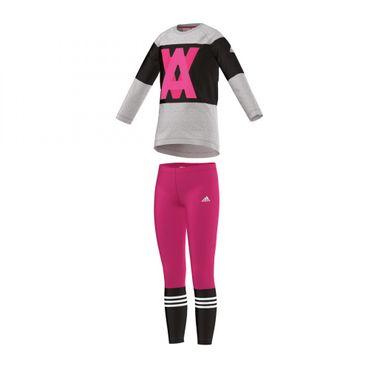 Adidas Mädchen Trainingsanzug enger Tight