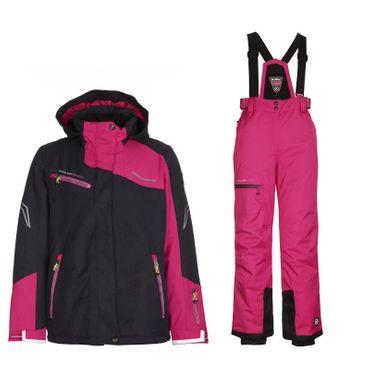 Killtec Skianzug Kinder Schneeanzug Wasserdicht schwarz pink  – Bild 1