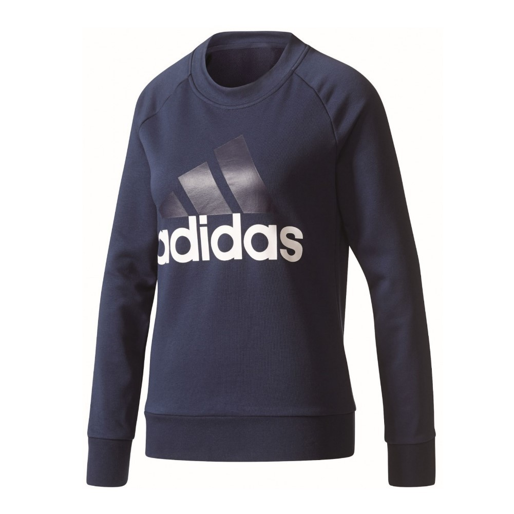 adidas damen ess sweatshirt damenbekleidung pullover. Black Bedroom Furniture Sets. Home Design Ideas