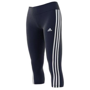 adidas 3 Streifen D2M Damen 3/4 Fitness Sport Tight Hose – Bild 4