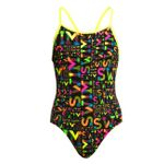 Funkita Mädchen Badeanzug Diamond Back Night Swim