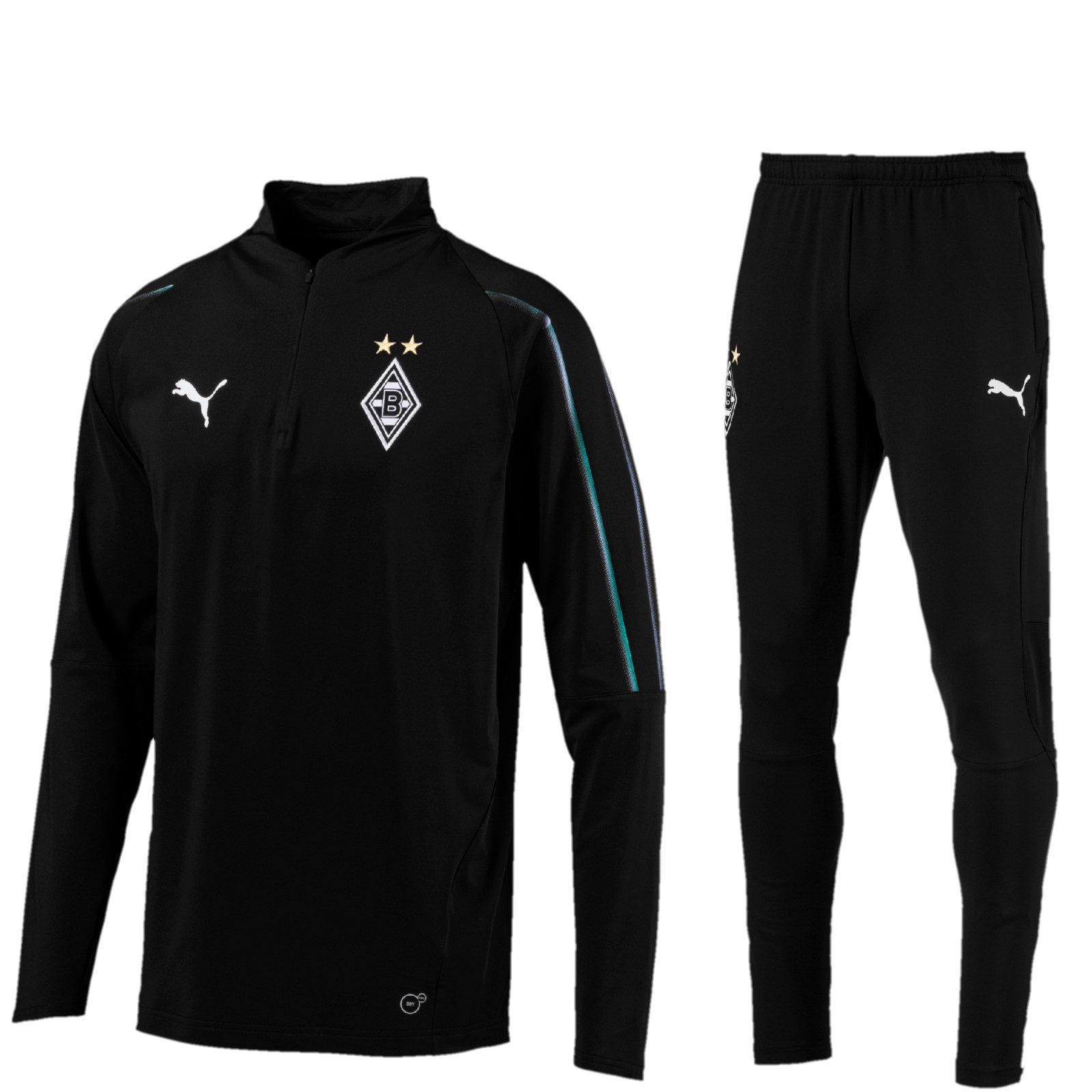 Borussia M/önchengladbach Herren Badehose Black /& White