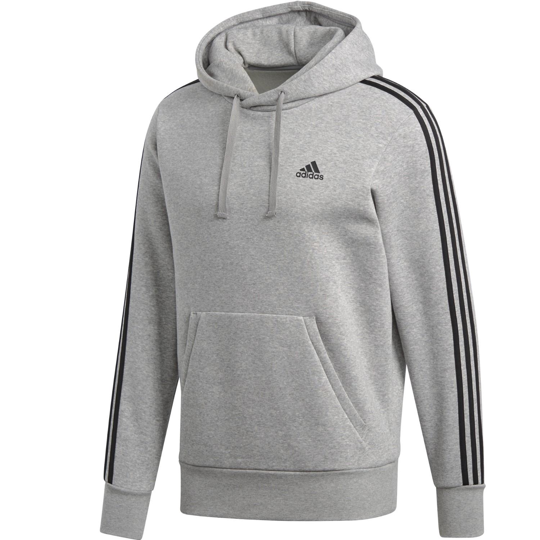 e5c12d127d39 adidas ESS 3S Streifen Fleece Hoodie Kapuzenpullover Herren  Herrenbekleidung Pullover   Sweatshirts