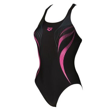 arena Damen Badeanzug Flow One Piece V Back – Bild 5