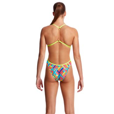 Funkita Badeanzug Damen Panel Pop Twisted Back – Bild 4