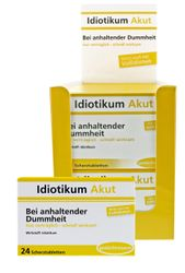 Idiotikum Akut - Bei anhaltender Dummheit - Gut verträglich und schnell wirksam! 24 Schokolinsen - Tabletten die bei richtiger Anwendung sicherlich helfen!