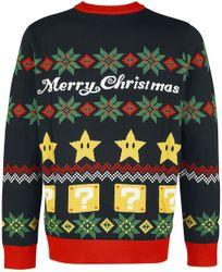 Super Mario - Merry Christmas - X-mas - Sweater Bild 2