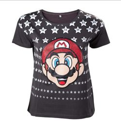 Super Mario Mario with Stars T-Shirt.