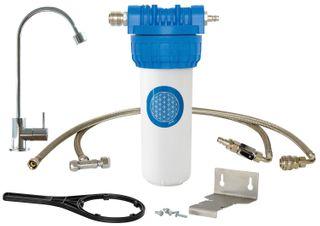 Alvito Einbau-Filtersystem Untertisch mit Wasserhahn Novara Chrom-Optik