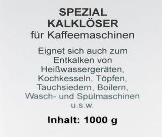 Spezial Kalklöser für Kaffeemaschine 1000g – Bild 2