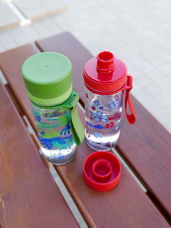 Aveo Aladdin Trinkflasche, Geschmacksneutral, Auslaufsicher, Grau 0,6L – Bild 3