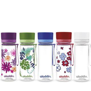 Aveo Aladdin Trinkflasche, Geschmacksneutral, Auslaufsicher, Feuerrot mit Grafik 0,35L – Bild 2