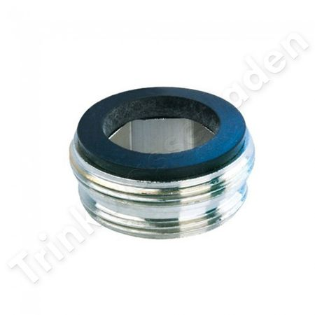 Adapter für Innengewinde - Hahnanschluss M22xAG auf M24x1 AG z.B. für Carbonit Sanuno – Bild 1