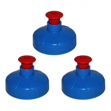 3er Set Push-Pull Deckel, Trinkdeckel passend für Tritan- u. Polycarbonatflaschen – Bild 1