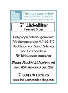 10 Stück 5 Zoll Wickelfilter, Wasserfilter, Sediment, Filterkerze, Kerzenfilter 5 µm – Bild 2
