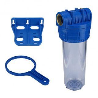 """Wasser Filtergehäuse 10"""" 3-teilig 1"""" IG Messing Vorfilter Brunnen + Kalkfilter – Bild 2"""