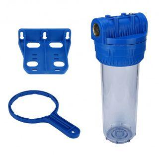 """Wasser Filtergehäuse 10"""" 3-teilig 3/4"""" IG Messing Vorfilter Pool + Kalkfilter – Bild 2"""