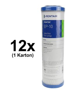 "12x Pentair / Pentek EP-10 Carbon Block Filter Cartridge 9-3/4"" - 5 µm"