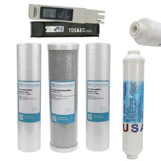 "Filterset 10"" 4-teilig + Wassertester TDS/EC - Ersatzfilter Umkehrosmose"