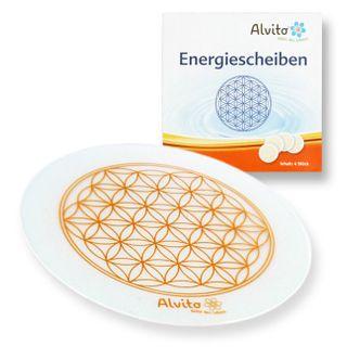 Alvito Energiescheiben Lebensblume 4er Set