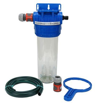 Wasserfiltergehäuse Untertisch mit Schnellkupplungen für Gartenschlauch – Bild 1