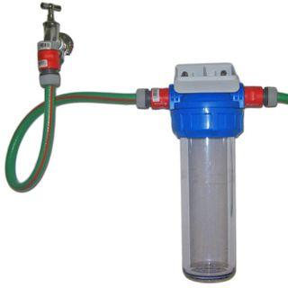 Wasserfiltergehäuse Untertisch mit Schnellkupplungen für Gartenschlauch – Bild 2