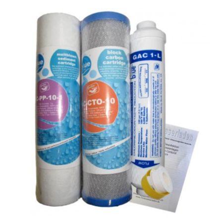 Umkehrosmose 3er Filtersatz 4 Stufenanlage – Bild 1