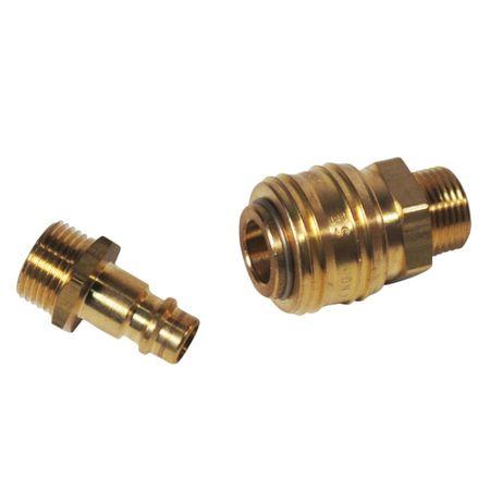 Schnellverschlußkupplung für Wasser- und Druckluftverbindungen – Bild 1