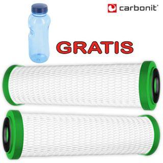 Carbonit NFP Premium 2er Set Wasserfilter + GRATIS Kavodrink Tritan Flasche Wasserflasche – Bild 2
