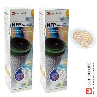 NFP Premium Filterpatrone Carbonit 2er Set + GRATIS Alvitoscheibe
