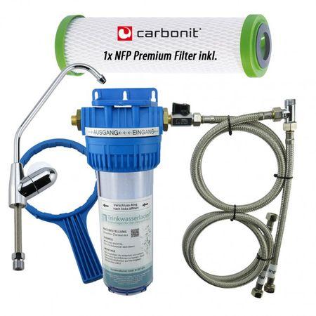 Wasserfilter VARIO-TWL Untertisch Wasserhahn komplett inkl.Carbonit NFP Premium – Bild 1