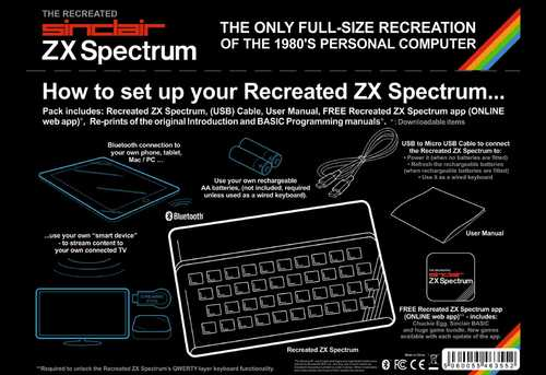 The recreated Sinclair ZX Spectrum Bluetooth – Bild 5