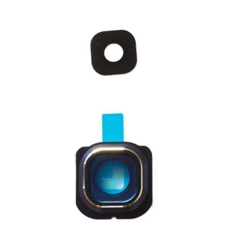 Kamera Linse (Glas) mit Rahmen (hinten) und Kleber für Samsung Galaxy S6 G920f – Bild 2