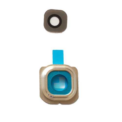 Kamera Linse (Glas) mit Rahmen (hinten) und Kleber für Samsung Galaxy S6 Edge – Bild 2
