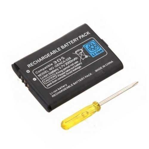 Batterie passend für Nintendo 3DS, 2000 mAh mit Schraubendreher - kompatibel CTR-003 – Bild 1